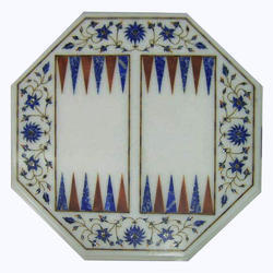 White Marble Coffee Table Top Handmade Inlay Work For Home