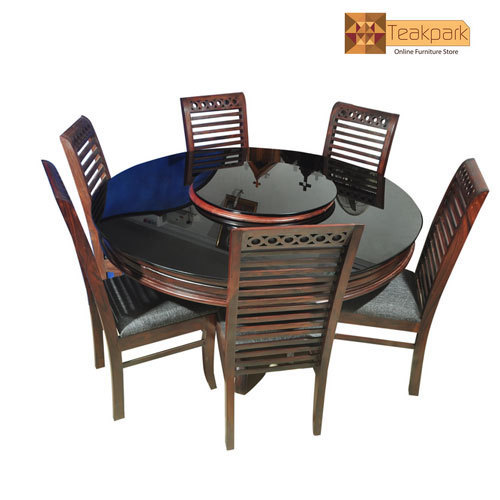 Amazon Round Rosewood Dining Set