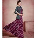 Rayon Karigari Stylish Look Printed Gown