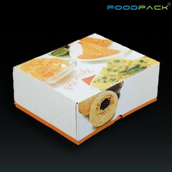 Foodpack Printed 250 GM Snack Packaging Box, Size: 5.5 X 4.5 X 2.25 Inch