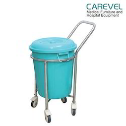 Carevel Plastic Bucket Soiled Linen Trolley