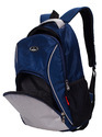 Navy Blue & Light Grey Moscow Laptop Backpack Bag