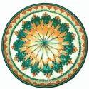 Multicolor Handwoven Moonj Plate