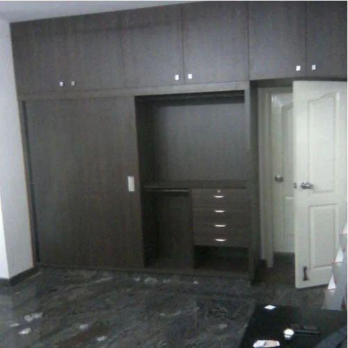 Resico Black Plywood Bedroom Wardrobe, Rs 1200 /square