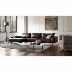 Custamizable Modern Modular Leather Sofa, For Home, Cushion Back