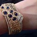 Sapphire Diamond Bangle