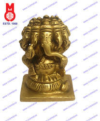 Lord Ganesh 5 Face Sitting Statue