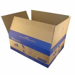 Blue And Brown Designer Printed Corrugated Box