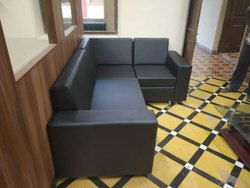 Modern Wood Cum Rexin Office Sofa-(Single/Multiple)