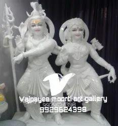 Shiv Parvati Marble Statue