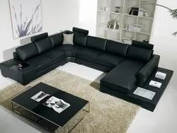 Leather Modern Fancy Living Room Sofa, For Home