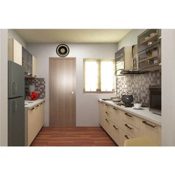 Stainless Steel Parallel Shape Parallel Modular Kitchen, Warranty: 5-10 Years