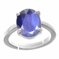 Blue Sapphire Stone Rings Silver Gemstone