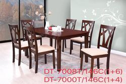 leon Malshian Rubber Wood Wooden Dining Set, for home, hotel
