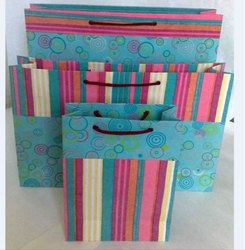 Two tone handmade paper bag