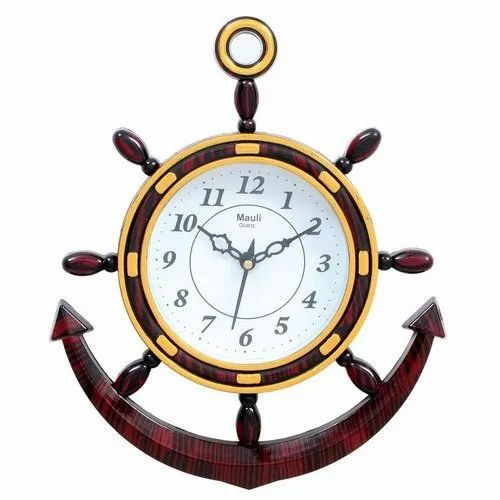 Mauli Analog Plastic Boat Type Wall Clock Rs 80 Piece Prathana Distributors Id 20820911462