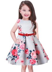 Rayon Printed Girls Party Wear Dresses