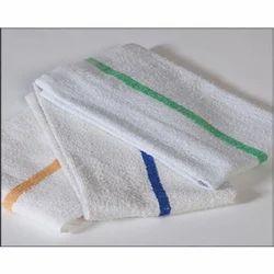 White Microfiber Printed Hospital Towel