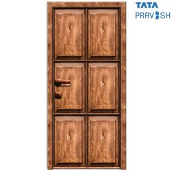 Tata Pravesh Reflection Natura Series Wood Finish Residential Steel Door