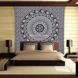 Elephant Hippie Mandala Tapestry