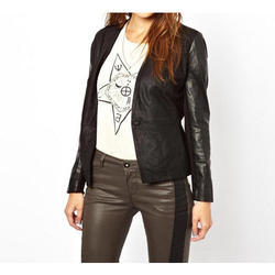 Ladies Fashionable Leather Jacket