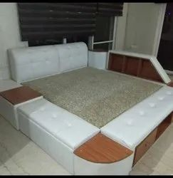 Brown Designer Bed, Warranty: 5 Year, With Box