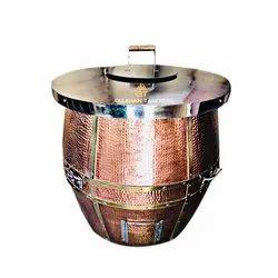 Hotel Stainless Steel Top Copper Tandoor