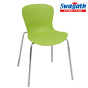 Swagath Bistro Fluorescent Green Plastic Armless Chair