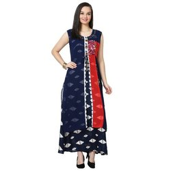 LKAAAF-17D Half Sleeve Round Neck Ladies Kurti