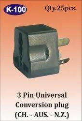 K-100 3 Pin Universal Conversion Plug