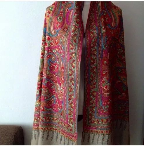 Women Wedding Wear Paisley Prints Hand Embroidered Cashmere Pashmina Shawl Size 178 Cm Rs 105000 Piece Id 21645383130