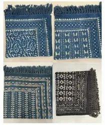 Rectangular Multicolor Cotton Hand Block Printed Rugs, Size: 3 X 5 Feet