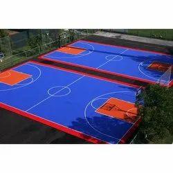 Outdoor Matte Basketball Court Construction