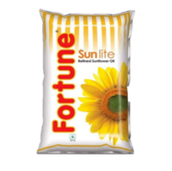 Fortune Sun Lite Refined Sunflower Oil, Packaging Type: Pouch