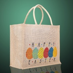Personalized Jute Shopping Bag