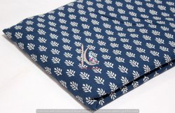 Indigo Blue Fast Floral Hand Block Print Cotton Fabric
