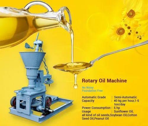 Rotary Gear Model Oil Mill