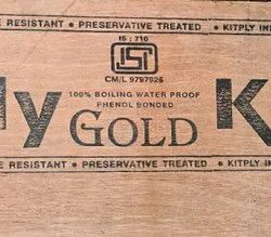 Hardwood Gurjan face veneer KITPLY Gold Boiling Water Proof Plywood (ISI-710), For Furniture, Thickness: 19mm