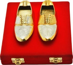 Gold and Silver Plated Shoe Shape Ash Tray