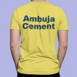 Geniekart Yellow Polyester Dry Fit Sublimation T Shirt