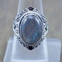 925 Sterling Silver Designer Real Labradorite Ring
