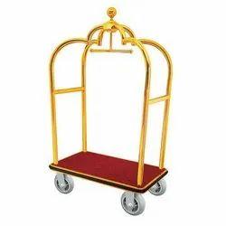 Brass Luggage Trolley