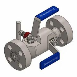 Budenberg 98F Flanged lnlet Double Block and Bleed Valve