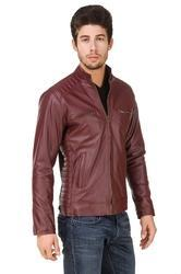 Cherry Full Sleeve Leather Riding Jackets