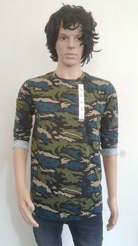 Polyester Large Round Neck T Shirt, Size: Small