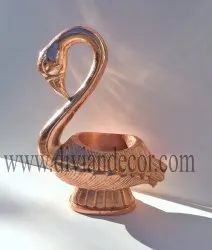 Copper Serving Swan Bowl