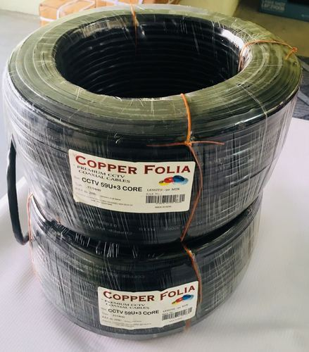 Copper Folia CCTV Camera Cable
