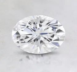 Oval Cut White Colorless Moissanite Stone