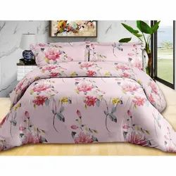 Cotton Floral Print Double Bed Sheet