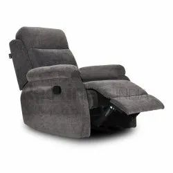 Grey Contour Fabric Recliner